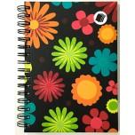Caderno - Flores de Verão 1/4 - 96 Folhas - Capa dura