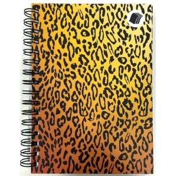 Caderno - Leopardo 1/4 - 96 Folhas - Capa dura