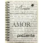 Caderno - Amor 1/4 - 96 Folhas - Capa dura