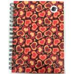 Caderno - Passione Coração Vermelho 1/4 - 96 Folhas - Capa dura