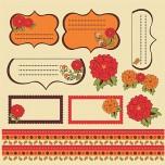 Floral Vermelho - Recortes