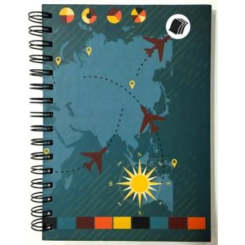 Caderno - Viagem 1/4 - 96 Folhas - Capa dura
