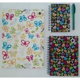 Kit Caderno, caderneta e pasta - Borboleta
