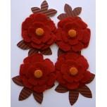 Kit Flores telha de feltro e papel